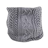 GreatestPAK Loop Schal Herren Damen gestrickt Wolle Single-Loop Schal,Grau