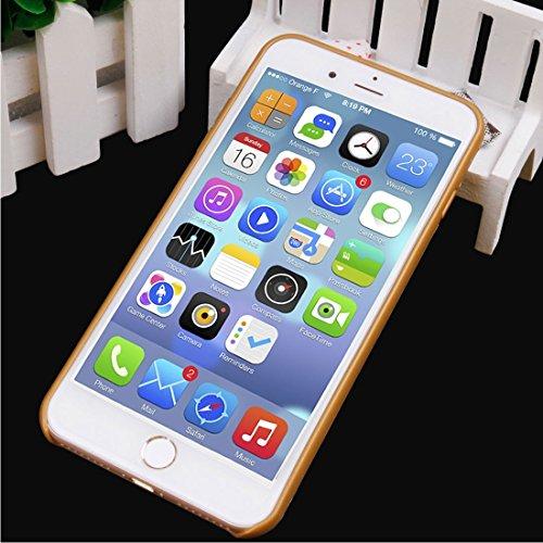 Hülle für iPhone 7 plus , Schutzhülle IPhone 7 Plus 2 in 1 Transparente TPU Schutzhülle ,hülle für iPhone 7 plus , case for iphone 7 plus ( Color : White ) Gold
