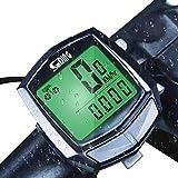 Auveach Tachimetro per Bici Impermeabile con Display LCD, Monitoraggio della velocità del Realtime in Bicicletta All'aperto