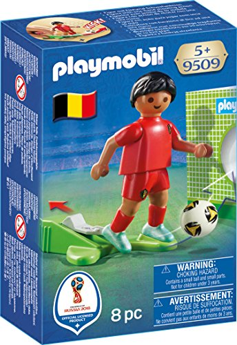 Playmobil Joueur de Foot Belge, 9509, Multicolore