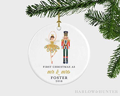 cwb2jcwb2jcwb2j Our First Christmas As Mr and Mrs Christmas Ornament, First Christmas Nutcracker Ornament Married Couple, Nutcracker Married Couple Ornament 3-inch(8 cm)