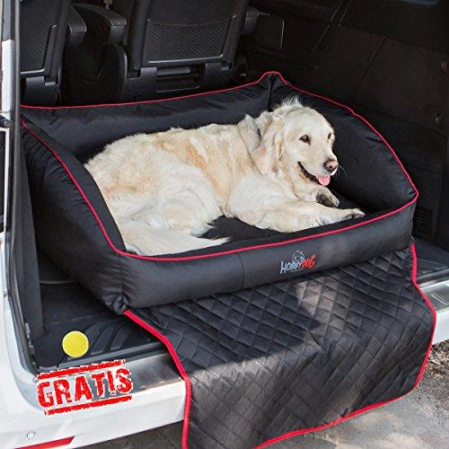 HOBBYDOG ROYAL TRUNK ROTCZA4 + Ball gratis Autoschutzdecke Kofferraumschutzdecke Matratze (4 verschiedene Größen) (R1 (90 x 70 cm))