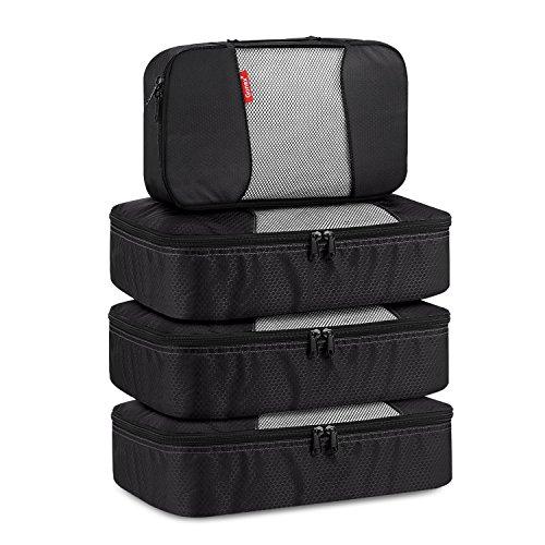 Packing Cube 4-teilig, Gonex Kleidertaschen-Set, 1 kleine und 3 mittelgroße Kleidertasche