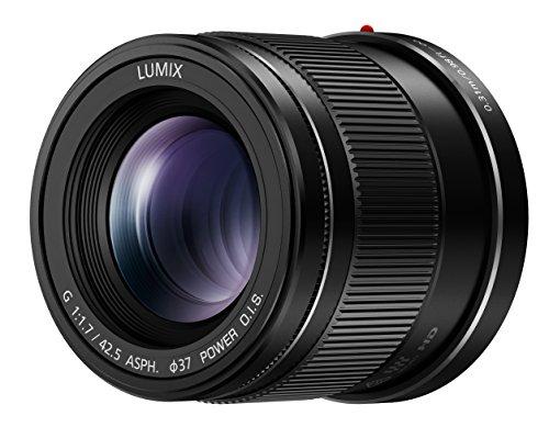 Panasonic H-HS043E LUMIX G Festbrennweiten 42,5 mm F1.7 ASPH Objektiv (ideal für Portraitaufnahmen, Power O.I.S. Bildstabilisator) schwarz