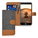 kwmobile Coque LG X Power Portefeuille - Étui à Rabat Simili Cuir pour LG X Power avec Compartiment Cartes Support