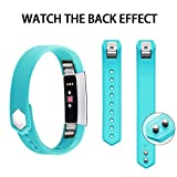 #9: Iloft® Fitbit Alta Strap and Alta HR Strap, Adjustable Replacement Sport Strap Bands for Fitbit Alta and Alta HR Smartwatch Fitness Wristband - Large (Teal)