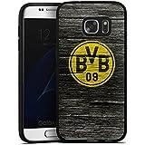 Samsung Galaxy S7 Silikon Hülle Case Schutzhülle Borussia Dortmund BVB Holzoptik