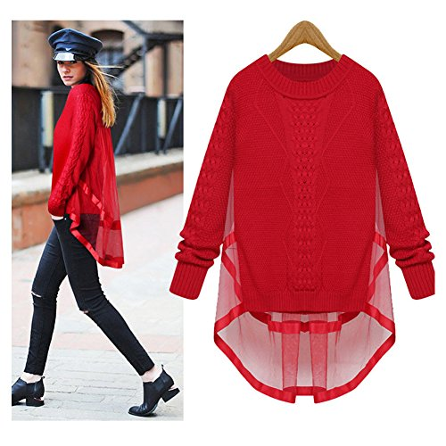 LHX - Pull sans manche - Femme rouge Red red