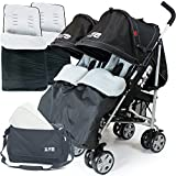 Used, Zeta Twin Pushchair Complete Package (Black Dots) for sale  Delivered anywhere in UK