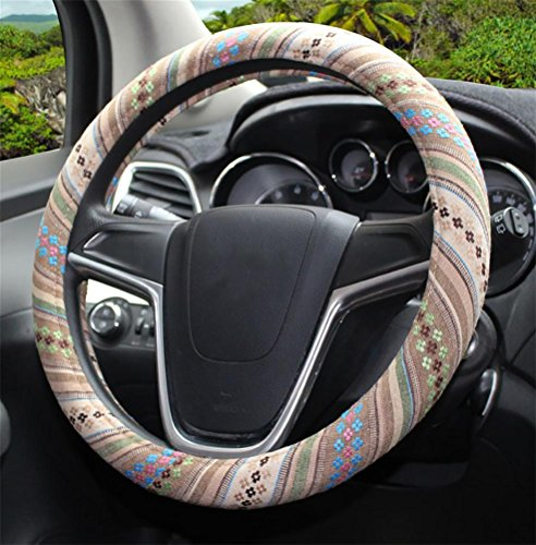 Housse de volant de voiture//G/én/éral 38cm 3d respirant antid/érapant protecteur de moyeu de volant vert