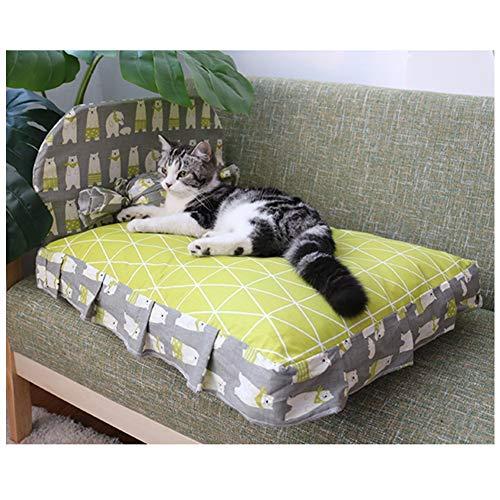 Herausnehmbare Waschbares Hundebett Mit Glattem Reißverschluss, Memory-Foam-Bett-Katze-Nest Zu Halten Im Winter Warm (Farbe : Green, Size : 19.7 x 23.6 in)