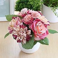 clg-fly creative simulazione piante artificiali in vaso vaso da fiori decorazione casa decorazione tavolo mobili per TV supporto decorazione Apricot