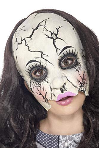 e Puppe Latex Maske, One Size, Weiß, 45595 ()