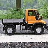 YaPin Modellauto 1:24 Mercedes - Mercedes-Benz Unimog U400 Geländewagen Automaterial Autozubehör Geschenk Dekoration (Color : Orange)