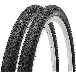 Par de Fincci por Carretera de Montaña Bicicleta Híbrida Neumático Cubiertas 26 x 2,125 57-559