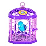 Little Live Pets Tweet Talking Bird with Cage - Series 6 (Gemstone Friends) - Starflake