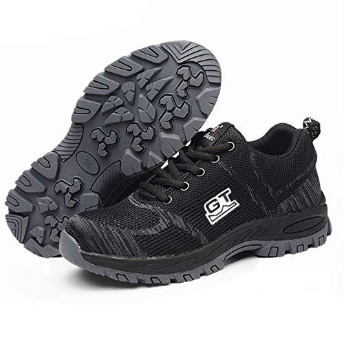 H.L Scarpe di Sicurezza per Il Lavoro Tappi di Punta in Acciaio Anti-Smashing Scarpe protettive Anti-Piercing Sport Walking Scarpe da Ginnastica per Uomo e Donna,43
