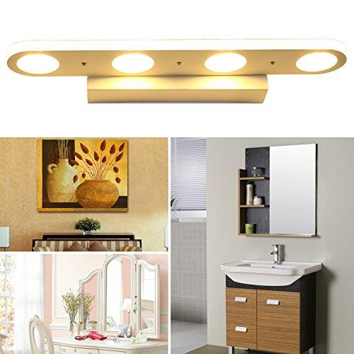 Lampada-da-Parete-di-Acrilico-LED-Illuminazione-Bagno-Specchio-per-il-Trucco-Faro-Anteriore-Acciaio-Inossidabile
