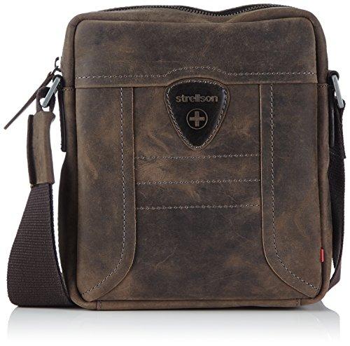 Strellson Hunter shoulderbag SV 4010000187 Herren Schultertaschen 20x23x6 cm (B x H x T), Braun (dark brown 702) (Herren Accessoires Taschen)
