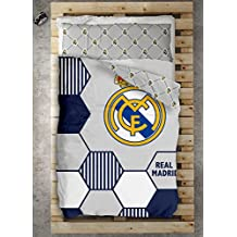 TEXTILONLINE Funda Nordica 2 Pzas. Real Madrid Regate (Cama 90 cms, Color Unico)