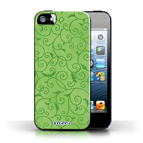 Kobalt® Imprimé Etui / Coque pour Apple iPhone 5/5S / Vert conception / Série Motif de la vigne Vert