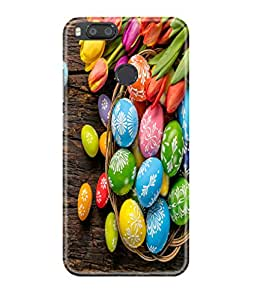 Mi A1 Back Cover Designer 3d printed Hard Case Cover for Mi A1 by Gismo - colorful paint egg theme