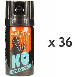 KO Spray 007 CS-GAS PARALISANT 36x im Set zur Selbstverteidigung 40ml BKA zugelassen Verteidigungsspray
