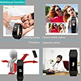 Willful SW328 Fitness Tracker mit Pulsmesser – Wasserdichte Fitness Armband Puls Armband Aktivitätstracker Schrittzähler Uhr mit Schlafmonitor Kalorienzähler Vibrationsalarm Anruf SMS Whatsapp Beachten mit iPhone Android Handy kompatibel - 6