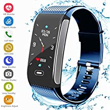 Fitness Tracker Activity Sports Watch with Pedometer Heart Rate Monitor Multiple Sports Mode Step Calorie Distance Tracker IP67 Waterproof Call SMS SNS Remind for Men Women Kids Compatible with Android IOS