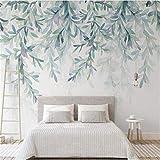 3D Wallpaper 3D Vliestapete Modernebenutzerdefinierte Foto Wandbild 3D Tapete Moderne Grüne Blätter Aquarell Nordischen Stil Fresko Wohnzimmer Tv Schlafzimmer 3D, 120 * 100 Cm