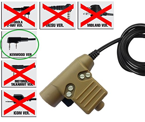 Preisvergleich Produktbild AIRSOFT TOMTAC U94 PTT TAN 2 WAY RADIO SWITCH SORDINS COMTAC KENWOOD 2 PIN PUSH