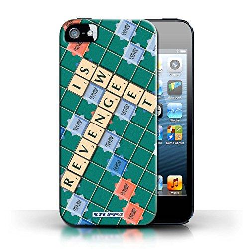 Kobalt® Imprimé Etui / Coque pour Apple iPhone 5/5S / Ennemis Proximité conception / Série Mots de Scrabble Douce Vengeance