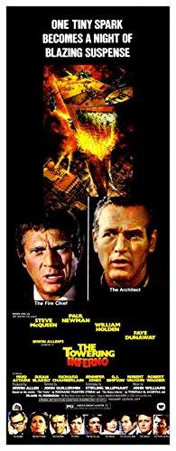 La imponente Inferno Póster de película 14 x 36 dípticas - 36 cm x 92 cm en Steve McQueen Paul Newman William Holden Faye Dunaway Fred Astaire Jennifer Jones