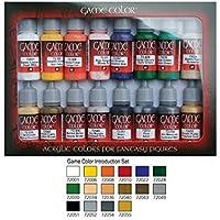 VALLEJO-3072299 72299 Vallejo Game Color Set DE 16, Multicolor (3072299)