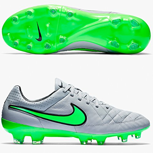 Nike Tiempo Legacy Fg, Chaussures de football homme Gris/vert