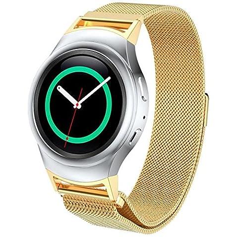 Hansee Bracelet moderne en acier inoxydable pour montre + connecteur pour Samsung Galaxy S2 RM-720, outils de réparation inclus, adulte mixte, or