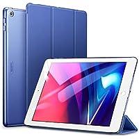 """ESR Funda para iPad 2017/Nuevo iPad 2018 de 9.7"""" Silicona [Auto-Desbloquear][Botones Protegidos] Función de Soporte de Cuero Sintético y Plástico Duro Smart Cover para Apple iPad 9.7"""" 2017/2018-Azul"""