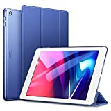 ESR Funda para iPad 2017/Nuevo iPad 2018 de 9.7' Silicona [Auto-Desbloquear][Botones Protegidos] Función de Soporte de Cuero Sintético y Plástico Duro Smart Cover para Apple iPad 9.7' 2017/2018-Azul