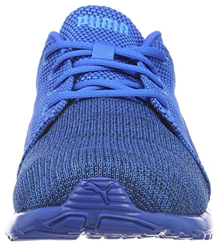 PumaCarson Runner Knit EEA - Scarpe Running Unisex – Adulto Blu (Blau (PEACOAT-Electric blue lemonade 03))