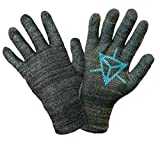 Ingress Edition, Touch Screen Gloves, Faction Resistance - Entire Surface Works on iPhones, Androids, iPads, & Tablets - Anti Slip Palm for Geocaching Phone Grip - Maintain Dexterity - Large