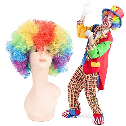 Afro Perücke Super Jumbo - Multi Color Clown Perücke, Halloween Kostümzubehör