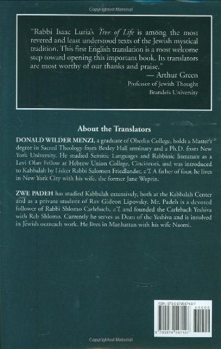 The Tree of Life: The Palace of Adam Kadmon - Chayyim Vital's Introduction to the Kabbalah of Isaac Luria
