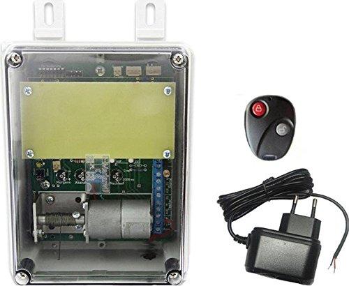JOSTechnik - Portier automatique avec bloc d'alimentation et télécommande