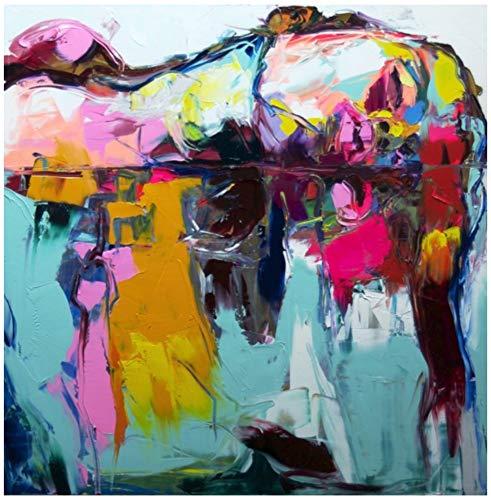 lde Auf Leinwand Handgemalt,Groß Sey Frau Auf Wasser Bunte Gesichts Portrait,Spachtel Bild Malen,Professionelle Kunst Dekor Für Wohnzimmer Schlafzimmer Hotel Cafe,90 X 90 cm ()