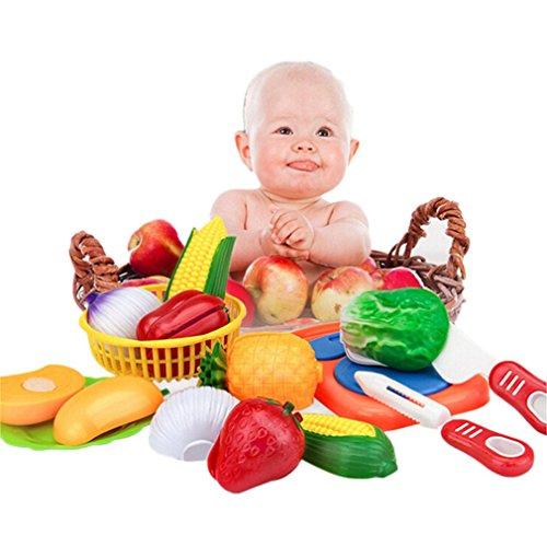 HENGSONG 12 Stück Küchenspielzeug Lebensmittel Kochen Spielzeug Baby Kinder Rollenspiele