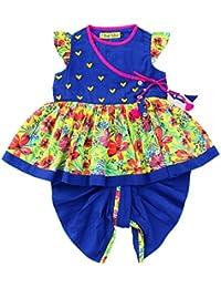 Tiber Taber Baby Girls' Cotton Dhoti Set