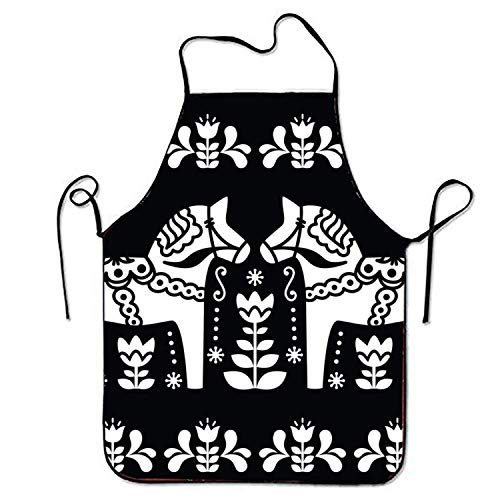 kim spratlin Schürzen Pferd Volkskunst Schürze für Küche BBQ Barbecue Kochen Garten Wasserdicht Langlebig und Großes Geschenk Anzug für Männer Frauen Kreatives Design Lätzchen -