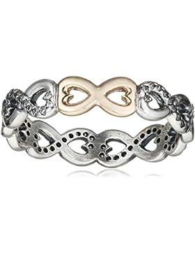Pandora Damen-Ring Verbundene Unendlichkeit 925 Silber Zirkonia weiß - 190948CZ
