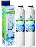 2x AH-S0B kompatibel für Samsung DA29-00020B Wasserfilter, HAF-CIN/EXP, DA97-08006A-B, DA29-00020A Kühlschrank Wasserfilter