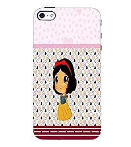PrintDhaba Cute Doll D-5880 Back Case Cover for APPLE IPHONE 5S (Multi-Coloured)